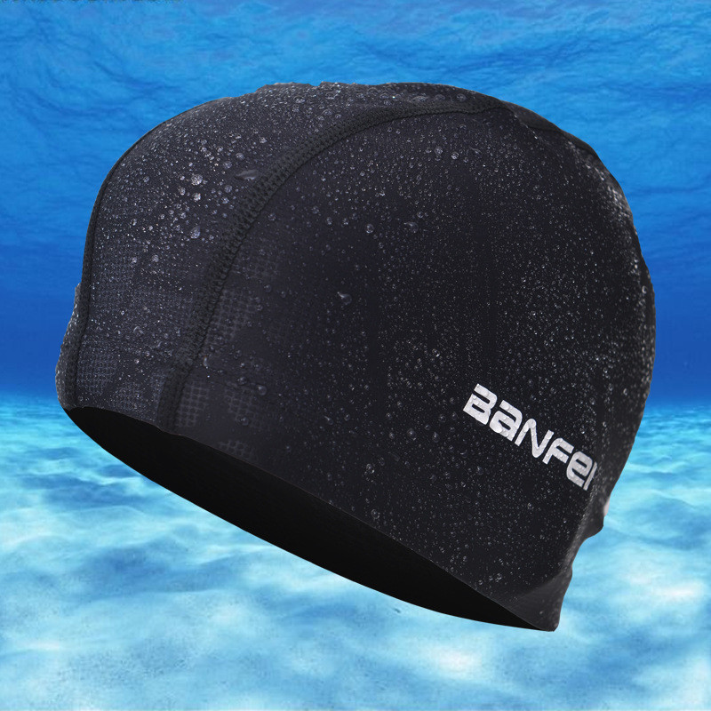 2016 new nylon earmuffs waterproof swimming cap sports swim pool bathing caps for men and women