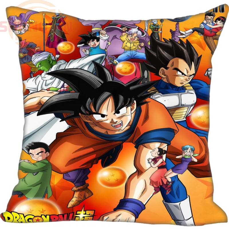 Custom Decorative Pillowcase anime dragon ball Z Square Zippered Pillow Cover Print Your image 20X20cm,35X35cm(one side)