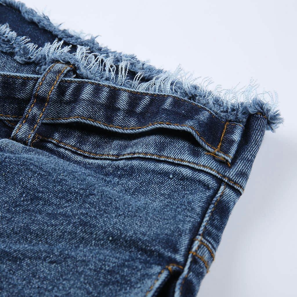 HTB1R27zSrvpK1RjSZPiq6zmwXXaB modis Women Elastic Butto Tassel Loose  Denim Casual Small Feet  Slim Fit Jeans vaqueros mujer calca jeans feminina 2019#4