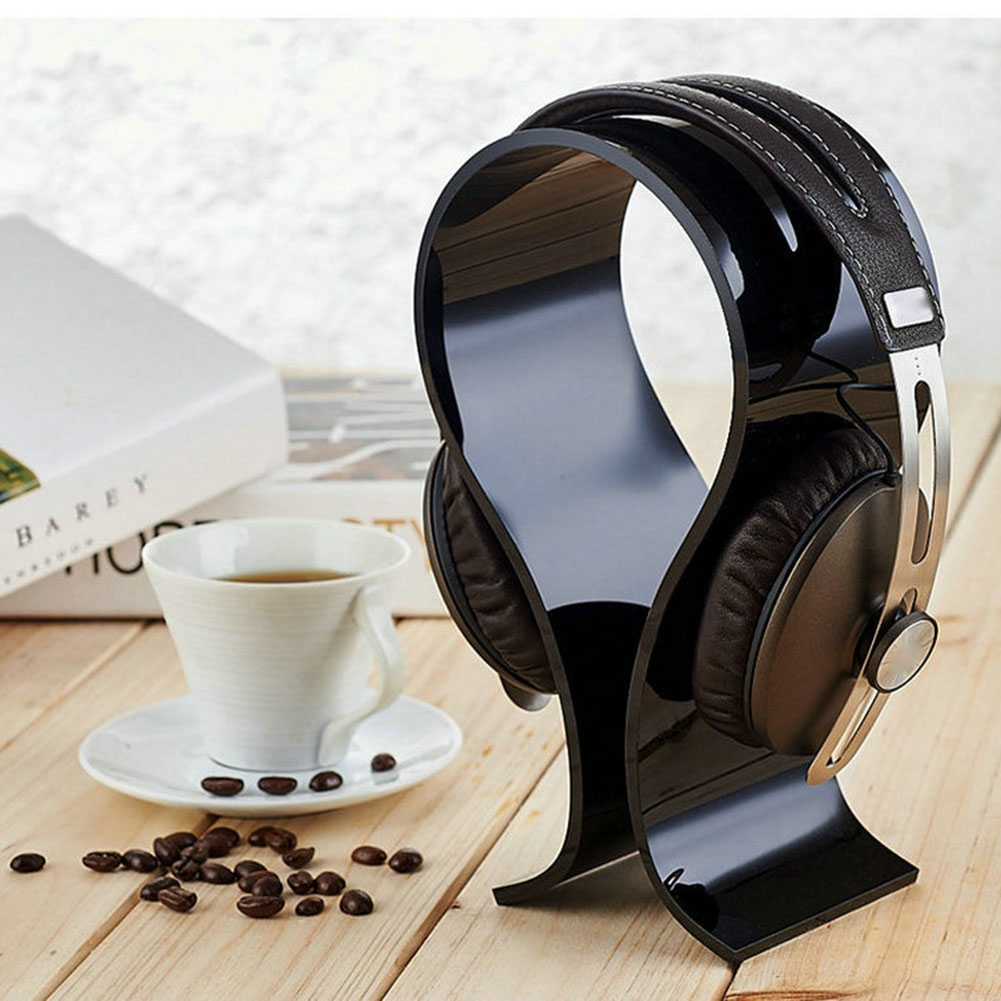 Universal Acrylic Earphone Headset Holder Headphone Desk Display Stand for Earphone Accessories New Arrival