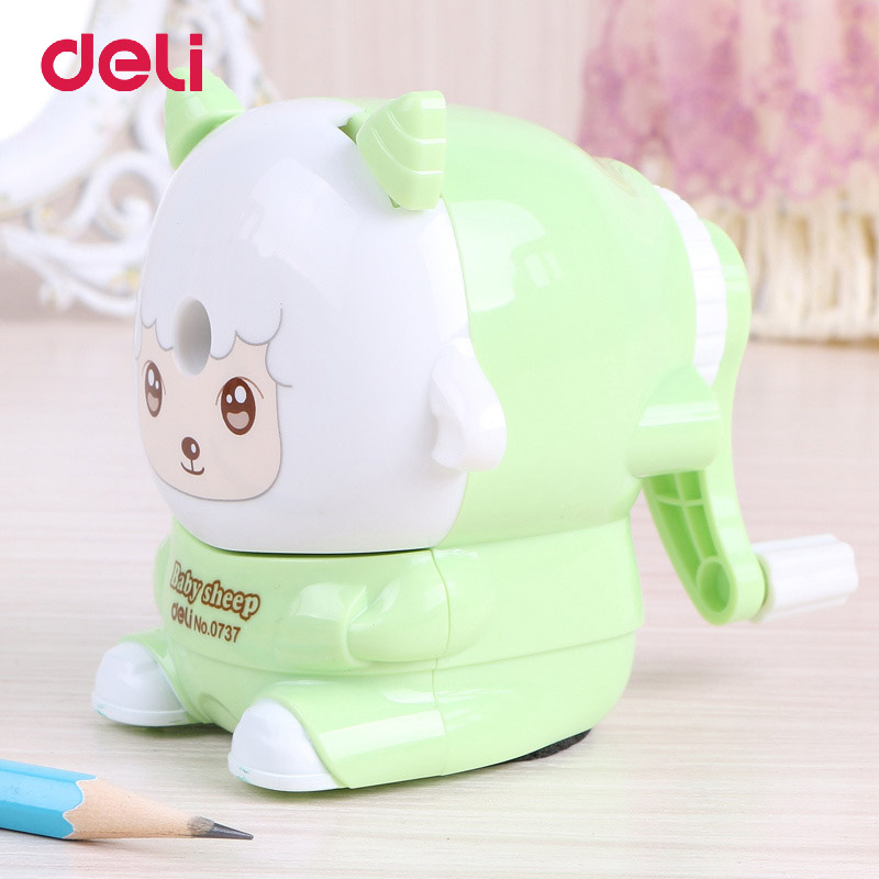 Deli Stationery Mechanical Pencil Sharpener Baby Sheep Office&School Supplies Manual Mechanical Pencil Sharpener For Students deli stationery pencil sharpener mechanical cartoon kawaii pencil sharpener cute pencil sharpener office & school supplies