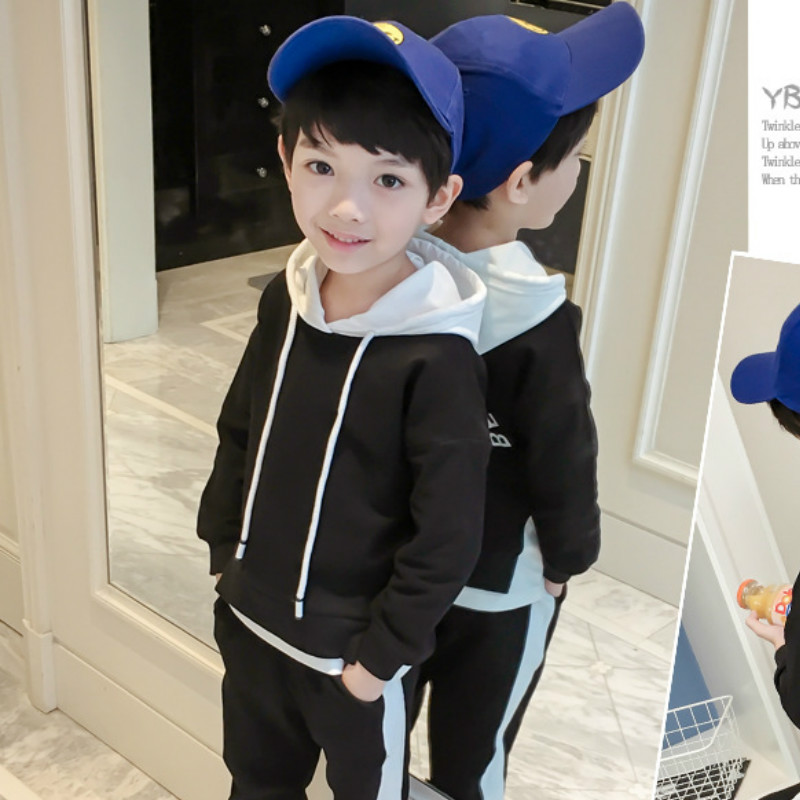 Baby Boy Clothes 2018 Toddler Kids Autumn spring Clothing Set Letter Hooded Pullover+pants 2Pcs Teenager Solid Sports Suits free shipping 2017 spring autumn children baby boys hooded sports suit letter 2pcs set kids