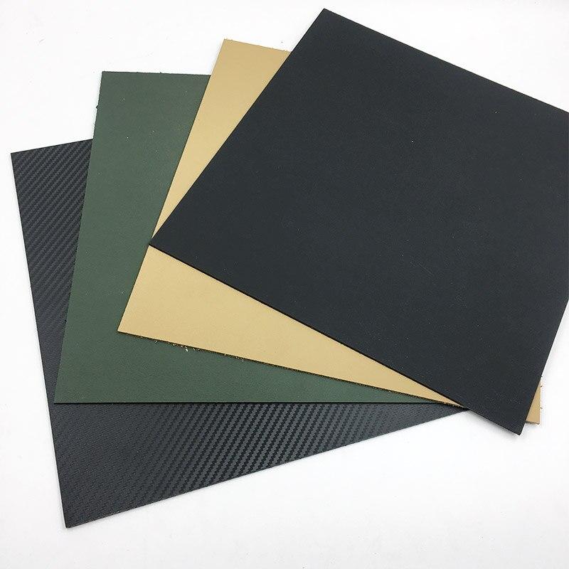 300*300mm Diy Knife Material Making Knife K Sheath Case Kydex K200 Carbon fiber Hot Plastic Plate Python Maple Leaves Symbol