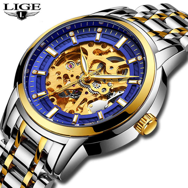 Men Watches LIGE Top Brand Luxury Men's Fashion Business Watch Men Stainless Steel Waterproof Watch Gift Clock Relogio Masculino men watch top luxury brand lige men s mechanical watches business fashion casual waterproof stainless steel military male clock