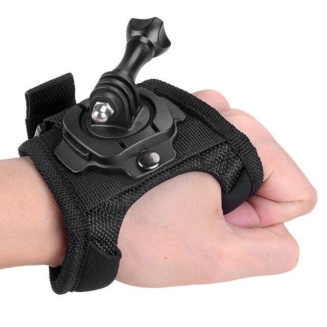 כפפת יד יד הר רצועת 360 תואר סיבוב מחזיק + ארוך בורג לgopro Hero 7/6/5 /4/3/2/1 SJCAM Xiaomi יי אבזרים