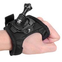 Glove Wrist Hand Mount Strap 360 Degree Rotation Holder + Long Screw for Go Pro Hero 4 3+ 3 2 SJCAM Xiaomi Yi Gopro Accessories