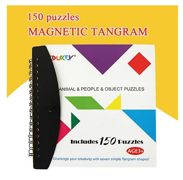 Juguetes para niños 150 magnética tangram juguete niños juguetes educativos del
