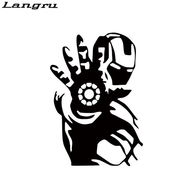Langru Car Styling Iron Man Avengers Pegatina Coche Ventana Camion