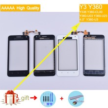 For Huawei Y3 Y360 Y360-CL00 Y360-U03 Y360-U23 Y360-U3 Touch Screen Panel Sensor Digitizer Front Outer Glass Touchscreen