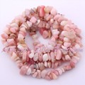 Free Shipping 4-6x6-8mm Freeform Pink Opal Gravel Chip Natural Stones For DIY Necklace Bracelat Jewelry Making Spacer Beads 15""