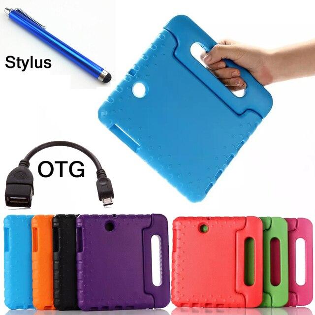 Стилус + OTG + Дети Надежная защита от повреждений Чехол Для Samsung GALAXY Tab S2 8.0 T710 T715 Tablet Сумки Идеальный Безопасный случай