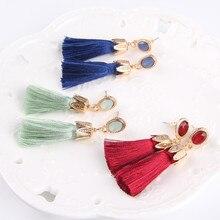 Oval Tassel Earrings