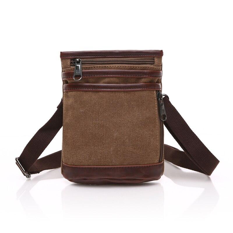 Men's Crossbody Bag Canvas Shoulder Messenger Bag Vintage Belt Waist Pack