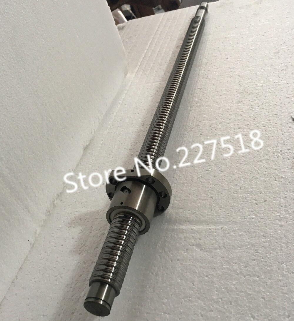 1pc 25mm Ball Screw Rolled C7 ballscrew 2505 SFU2505 1400mm BK20 BF20 end processing 1pc SFU2505