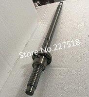 1pc 25mm Ball Screw Rolled C7 ballscrew 2505 SFU2505 1400mm BK20 BF20 end processing+1pc SFU2505 METAL DEFLECTOR Ballscrew nut
