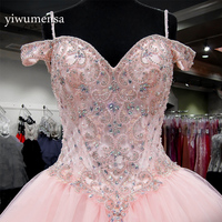 Vestido de 15 anos debutante sweet 16 dresses Pink Custom made Crystals Beading quinceanera dresses vestidos de 15 anos Dress