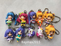 Geniune Bandai Happiness Charge Precure 10pcs Cute Figures Keychains Pendant New No Package