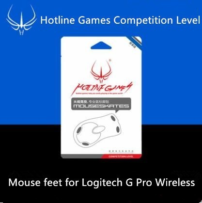 1 pcak Hotline Games Competition Level Mouse Skates Mouse Feet for Logitech G Pro Wireless Mouse 3M Teflon 2 sets pack genuine hotline games mouse feet for logitech anywhere mx m905 1 1mm thickness black mouse skates