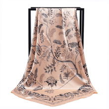 New Arrival Fashion Women soft satin brand scarf / tree Printed quare silk scarves 90cm Gifts Wholesale