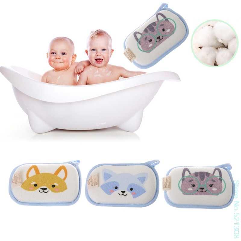 漫画新生児バスブラシ乳児シャワースポンジ綿こすりボディウォッシュタオル