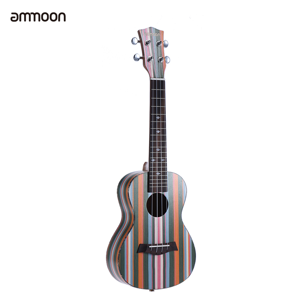 New Ammoon Colorized 24 Acoustic Soprano Ukulele Ukelele Uke Wooden 18 Frets 4 Strings Okoume Neck Rosewood Fingerboard Sports & Entertainment Musical Instruments