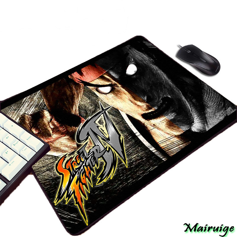Mairuige Street Fighter Series Video Fighting Game Cool Hadsome Creative Print Rubber Desk Mouse Pad Mat for Gamer Player Lovers