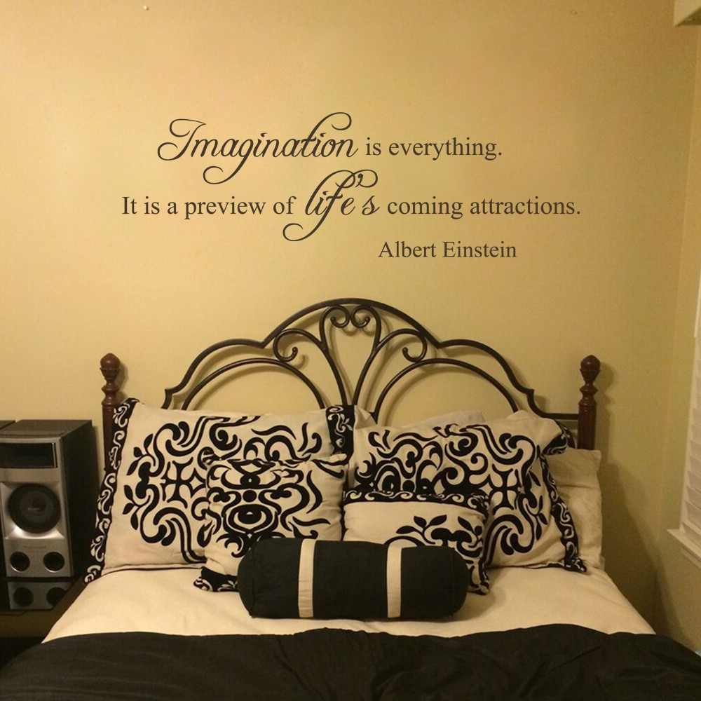 Albert Einstein Imagination is everything Vinyl Wall Quote Decal ...