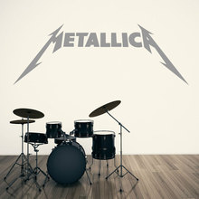 Rock band icon vinyl wall sticker room art music applique heavy metal rock home decoration decal YY15