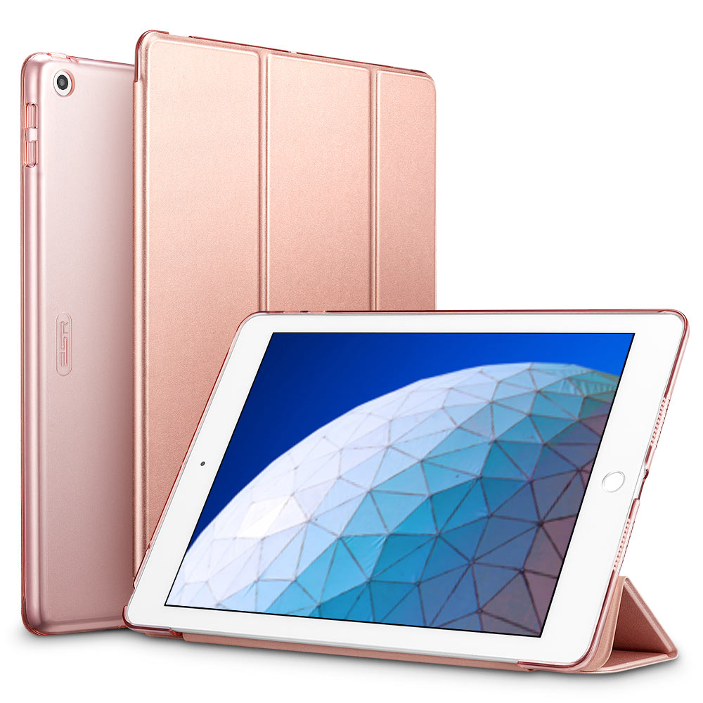 Rose ESR smart Case with Trifold Stand and Hard Back Cover for iPad Air 3 2019 (A2153, A2123, A2154, A2152)