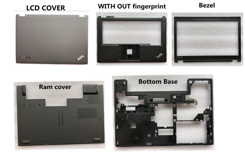 New FOR Lenovo Thinkpad T440P LCD Cover Keyboard Bezel Palmrest Bottom Base Case Ram Cover Combo Shell