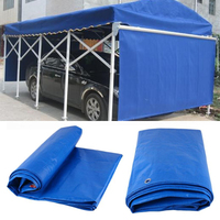 Car Vehicles Auto Tarpaulin Luggage Cover Canvas PVC Sheet Roof Shelter Tent Canopy Waterproof Dustproof Tarp Outdoor