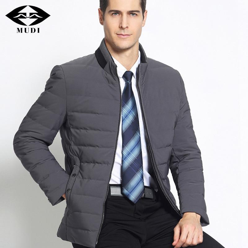 MUDI Brand New Mens Duck Down Coat Stand Collar Male Winter Ultralight Thick Keep Warm Outwear Top Quality 6XL 7XL Parka Jackets