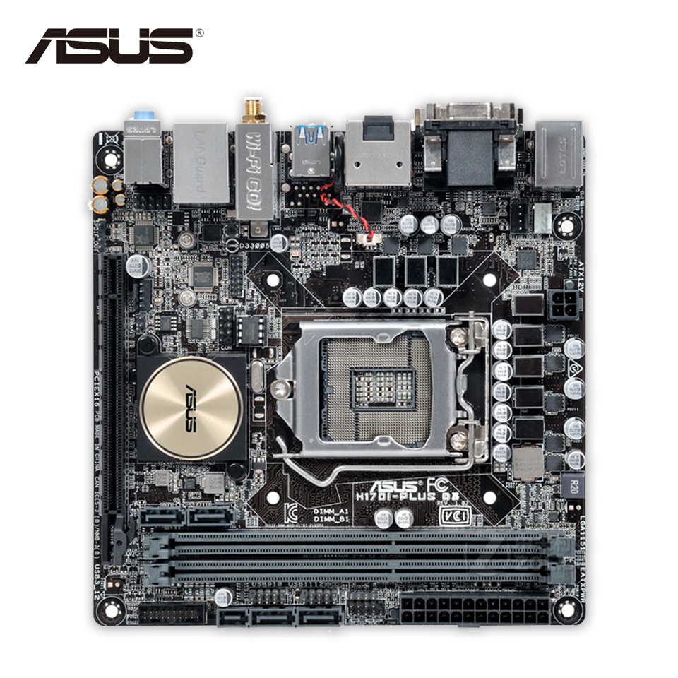 Asus H170I-PLUS D3 Original New Desktop Motherboard H170 Socket LGA 1151 i7 i5 i3 DDR3 32G SATA3 Mini-ITX giftman конверт на успешную торговлю 20х10 см