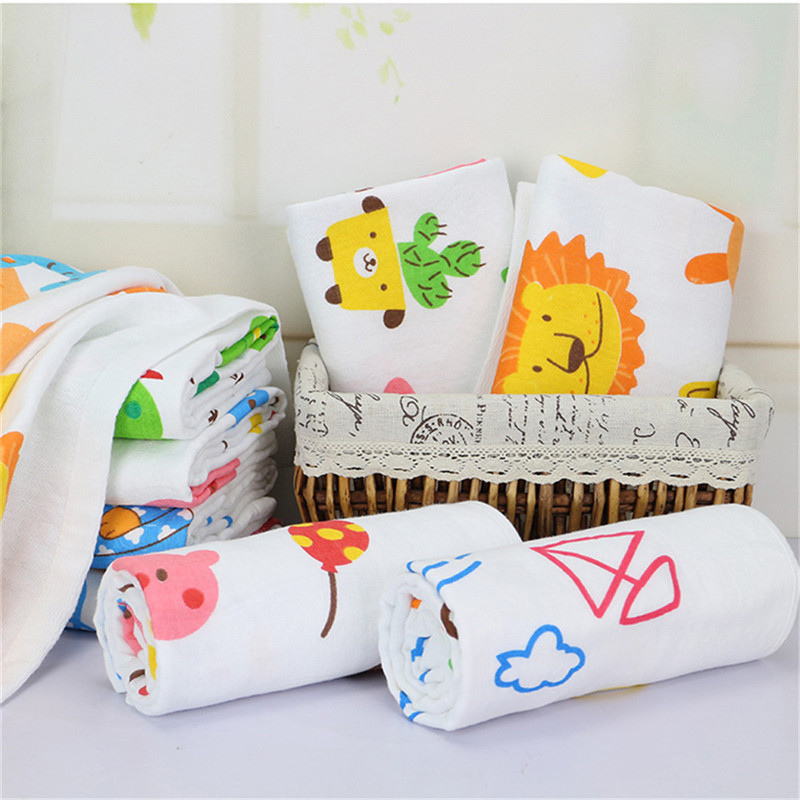 New cute Enlarged Cartoon Baby Bath Towel Soft Absorbent Gauze Towel Blanket for baby care