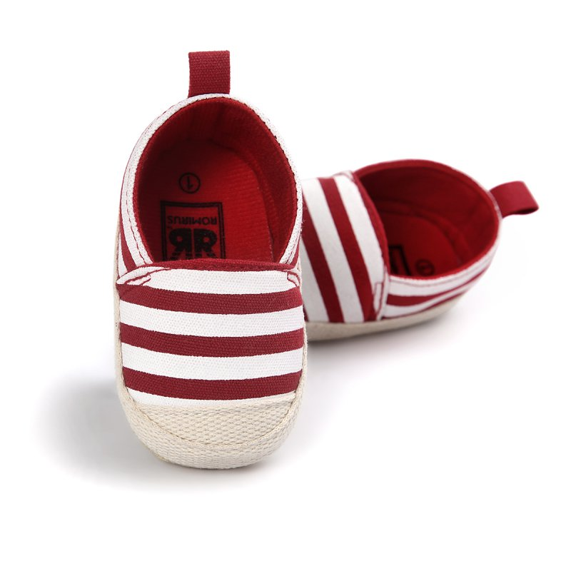 Blue Striped Baby Boy Shoes Lovely Baby Pertama Walkers Good Soft - Sepatu bayi - Foto 2