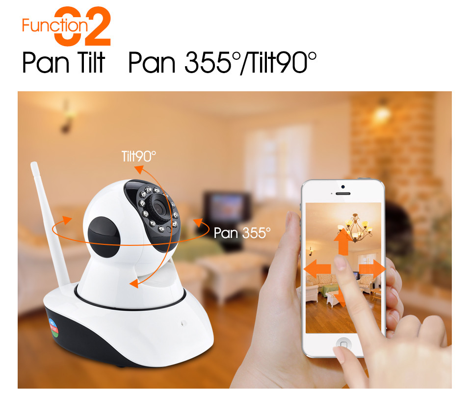 720P HD Wireless Security IP Camera Wifi IR-Cut Night Vision Audio Recording Surveillance Network Indoor Baby Monitor Camera