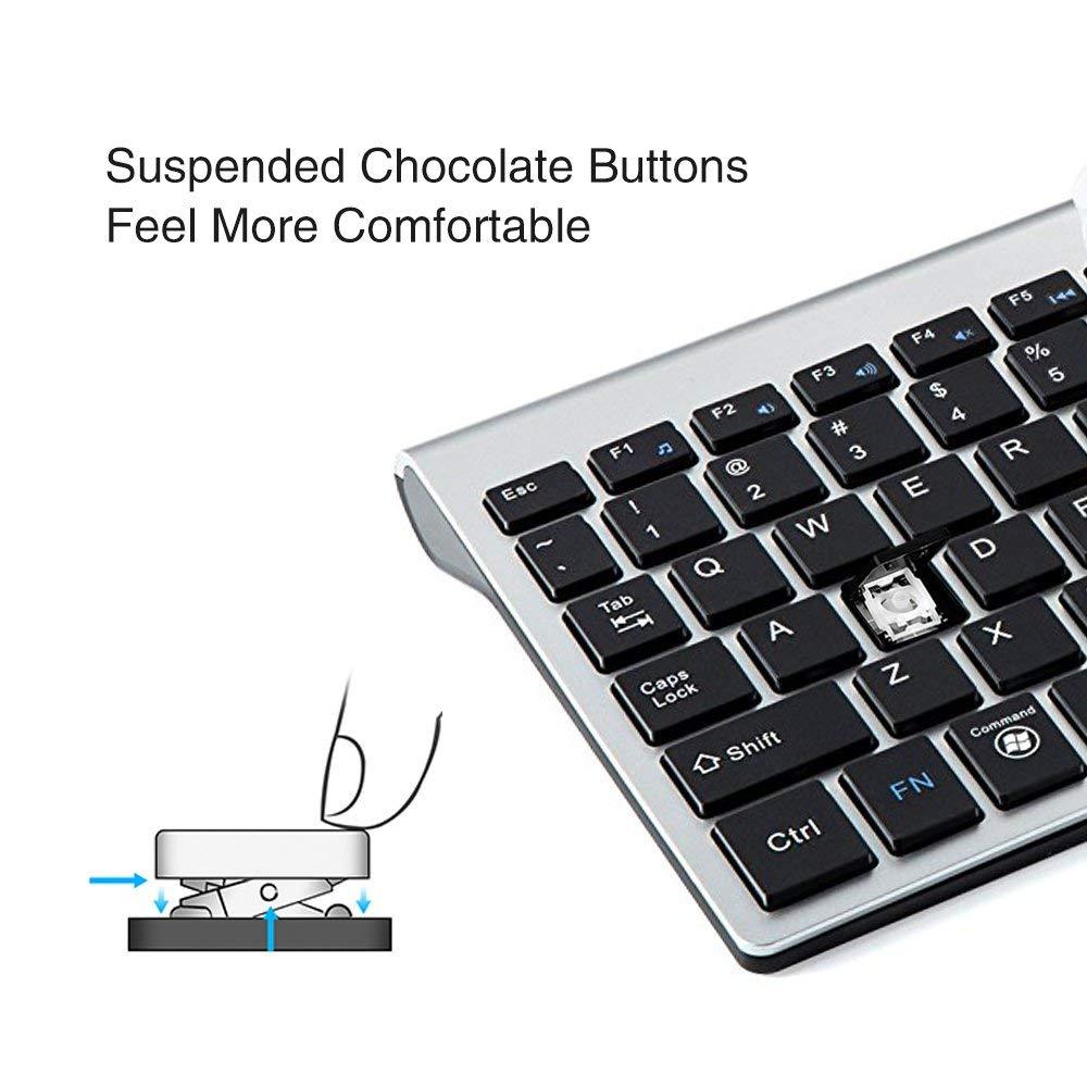 TopMate KM9001 Ultra Slim Portable Mute bezprzewodowa klawiatura i - Peryferia komputerowe - Zdjęcie 2