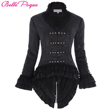 Bomber Jacket Womens Retro Vintage Victorian Corset Style Lace Embellished Jacquard Coat Tops Long Sleeve Women Outerwear Coats