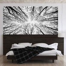 Noir arbre Branches 3D tête de lit autocollant mural chambre mur décalque lit chevet vinyle décor à la maison