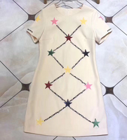 Летнее платье женское элегантное мини платье с коротким рукавом для леди 2019 Новое Женское платье с круглым вырезом повседневное