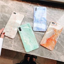 New Fashion Marble Veins Phone Case For iPhone X XS XR 6 6S 7 8 Plus MAX Cases Luxury Silicone soft TPU edge Cover