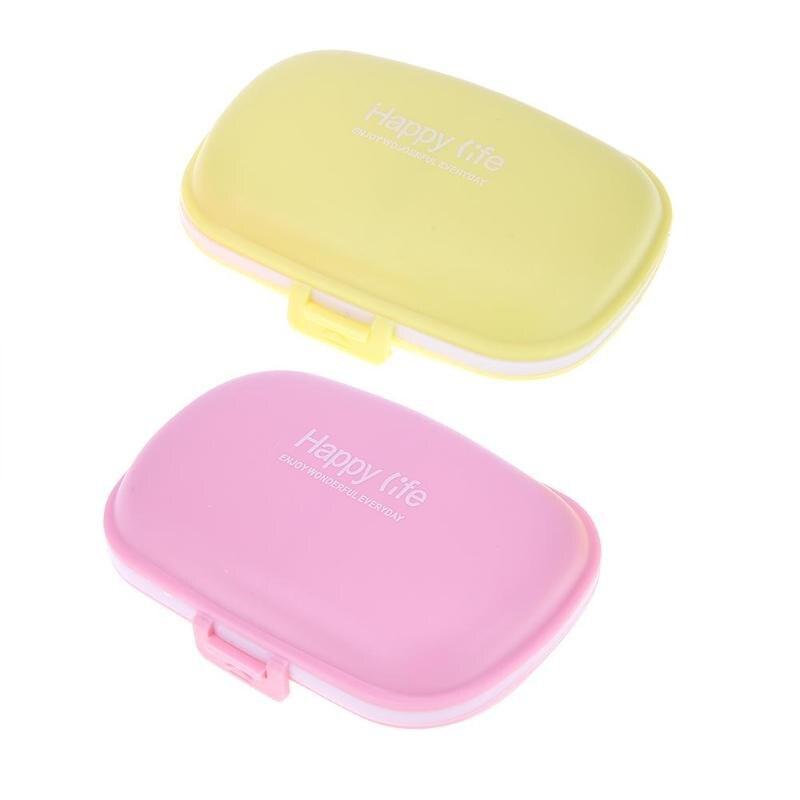 1 шт. Мини Box Витамин Медицина Pill складной чехол практические Портативный контейнер олова Кабельный организатор Цвет желтый розовый