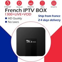 TX3Mini Android 9.0 TV Box 2G/16G Dual WiFi 2.4G/5G 4K BlueTooth+1 Year Free Arabic IPTV French Belgium Europe IPTV NEO TV IPTV