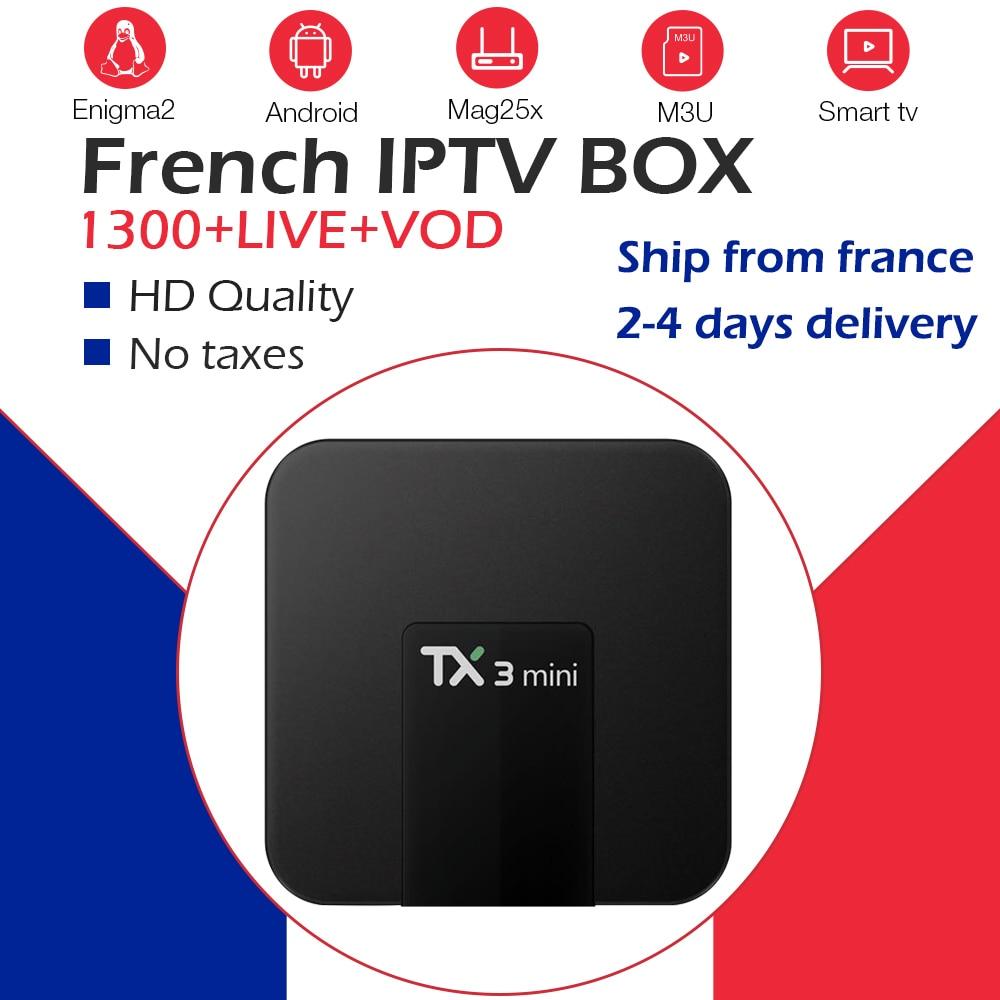 TX3Mini Android 9.0 TV Box 2G/16G double WiFi 2.4G/5G 4K BlueTooth + 1 an gratuit arabe IPTV français belgique Europe IPTV NEO TV IPTV-in Décodeurs TV from Electronique    1