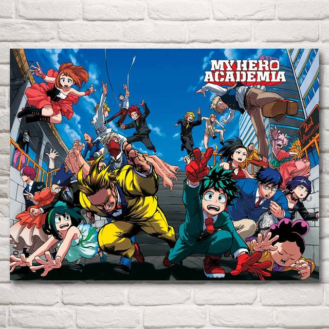 Boku no Hero Academia Fabric Poster 12×16 18×24 24X32 30×40 Inch