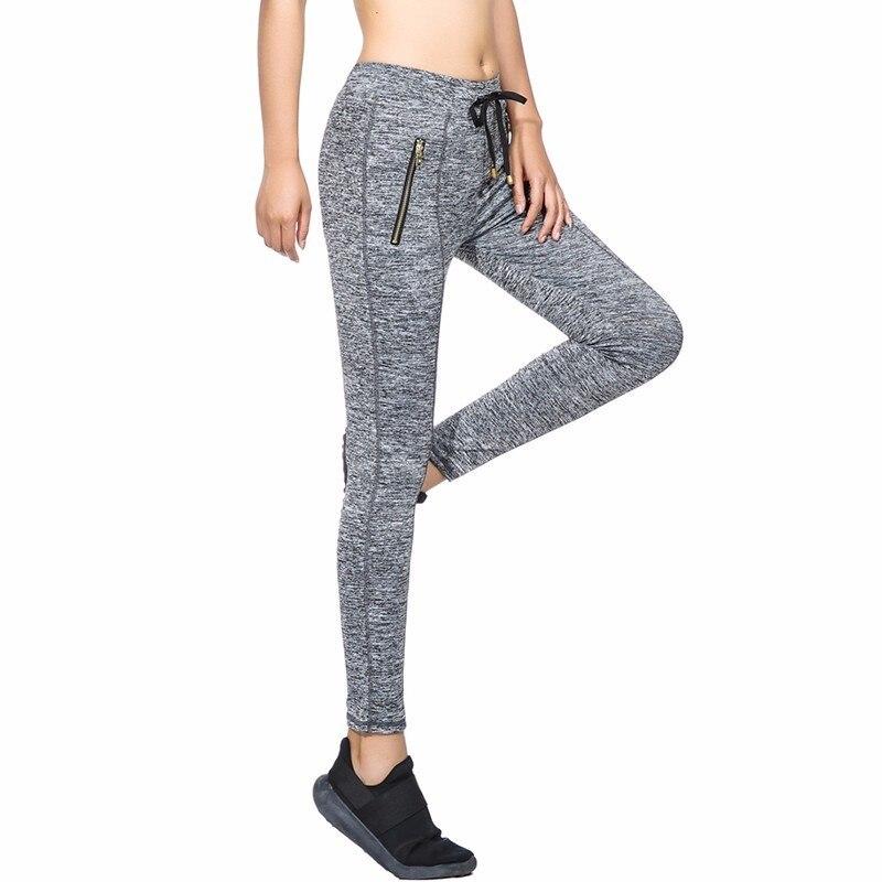 [Rylanguage] New Autumn Winterr 2018 Fashion Grey Drawstring Jogger Elastic High Waist Zipper Pockes Knitted Pants Women Y056