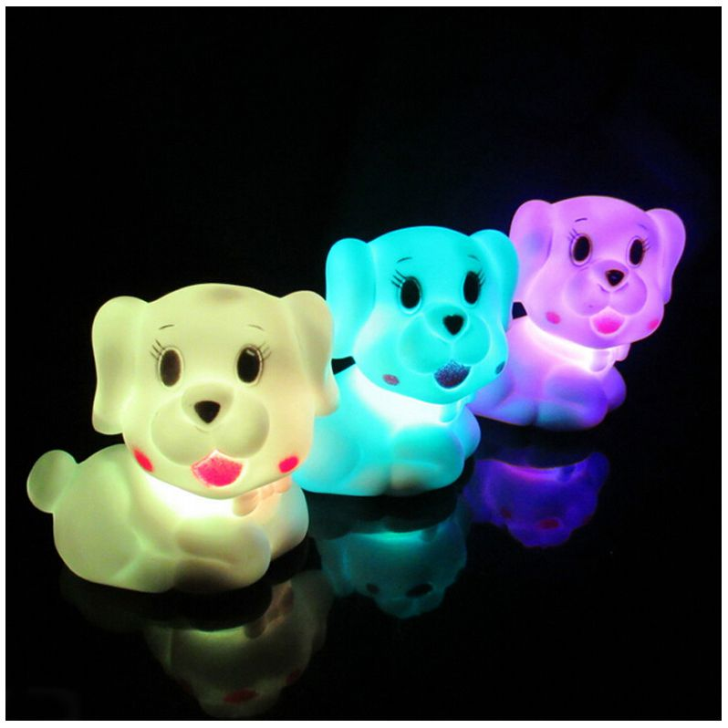 Color Changing LED Night Light Lamp Home Kids Baby Room Wedding Decor Toy Gift Pet dog