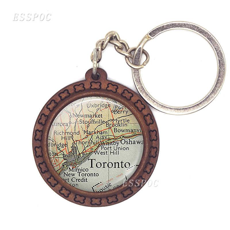 Красивый брелок с картой из Houston, стеклянная декоративная зеркальная полусфера, модные аксессуары для автомобильных ключей, лучший подарок путешественника