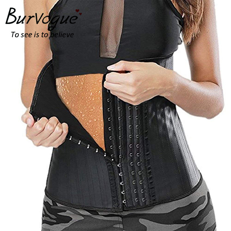 Burvogue Women Latex 25 Steel Boned Waist Trainer   Corset   Vest Underbust Waist Cincher Sexy Slim   Bustiers   &   Corsets   Plus Size 6XL