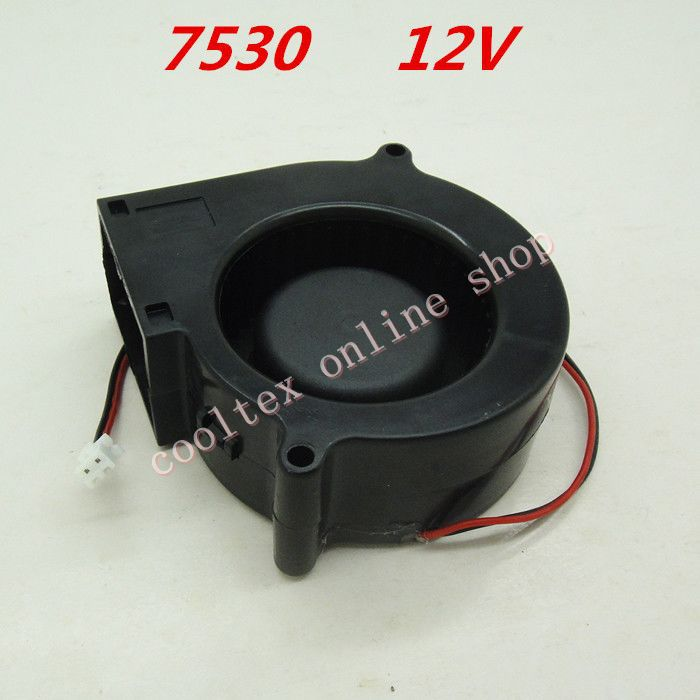 7530  blower Cooling  fan 12 Volt  Brushless DC Fans centrifugal  Turbo Fan  cooler  radiator 5015 12v cooling turbo fan brushless 3d printer parts 2pin for makerbot reprap prusa i3 dc cooler blower 50x50x15mm part plastic